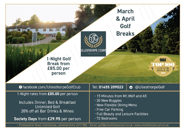 March and April Golf Breaks Advert March MG Issue-01